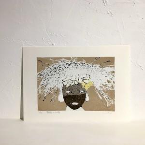 【版画アマビエ展】高垣秀光「原始の女神」 TAKAGAKI Hidemitsu, wood cut