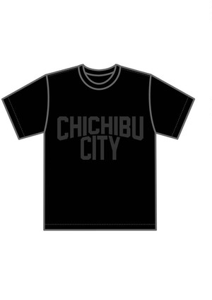 CHICHIBU CITY Black×Black T-shirt