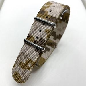 プレミアムNATOストラップ デザート カモフラージュ 20mm 腕時計ベルト