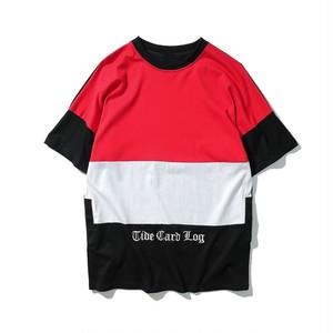 [大人気]3カラーデザインストリート風Tシャツ