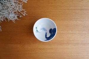 砥部焼/お茶碗(小)/青いぞうさん/きよし窯