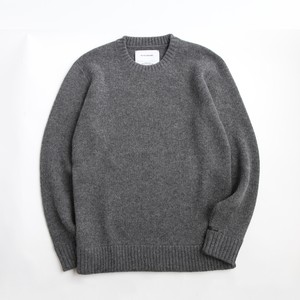 THE INOUE BROTHERS/Low Gauge/Jacquard Crew Neck/Grey