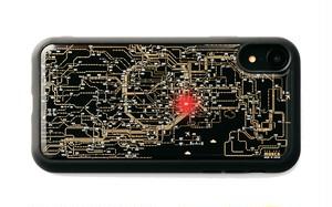 FLASH 東京回路線図 iPhone XRケース 黒【東京回路線図ピンズをプレゼント】
