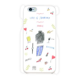 { LIFE is JOURNEY } PARIS スマホケース iPhone6/6s 白