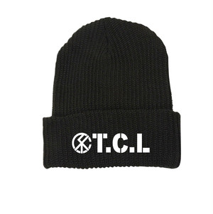 CIRCLE LOGO KNIT CAP (BLACK)