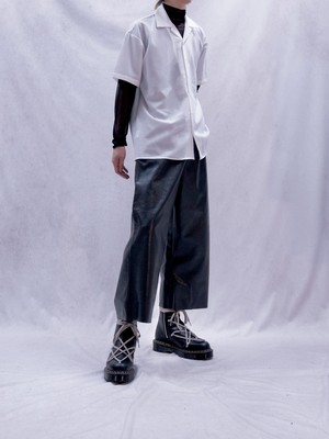 【MENS - 1 size】LEATHER CROP PANT / Black