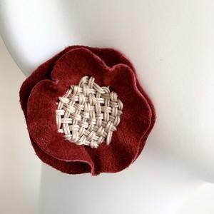 NEW basket flower ピアス・イヤリング〈あかね〉
