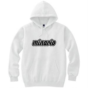 minario / BACKPACK HOODED SWEATSHIRT WHITE