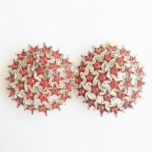 red rhinestone star earring[e-804]