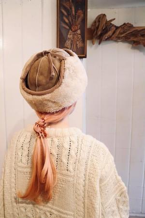 mouton flight hat.(b134)