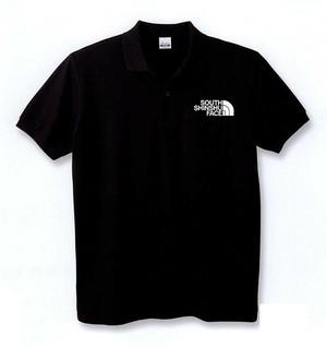 SOUTH SHINSHU FACE ポロシャツ ブラック