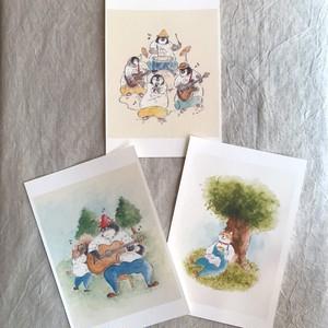【作家作品】松岡 文 ポストカード3枚セット・3【ハンドメイド】