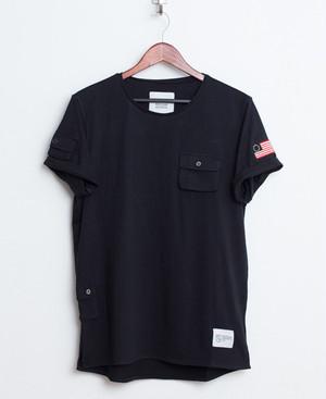 Profound Aesthetic/プロファウンド・エステティック - カーゴポケットTシャツ (ブラック) 【ジャスティンビーバー】【JustinBieber】【セール】