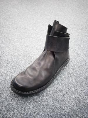 trippen トリッペン レザー アンクルストラップ ショートブーツ CLOSED BASE-WAW COLOR BLACK(ブラック)