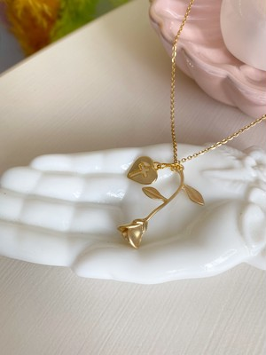 rose heart necklace(ローズハートネックレス)