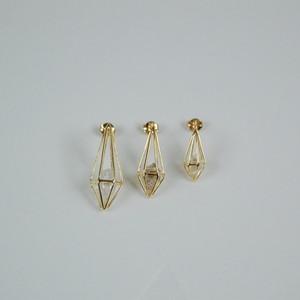 ハーキマーダイヤモンド/'LARME'(しずく)  SQ2L ピアス