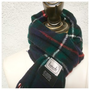 Harrods Lambswool Scarf Made in Scotland