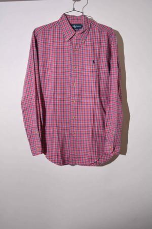 【Sサイズ】 RALPH LAUREN ラルフローレン BD CHECK SHIRTS 長袖チェックシャツ BLUE/RED 400602190715