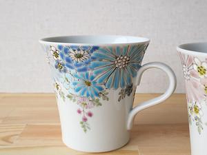 花憐 マグカップ(ブルー)