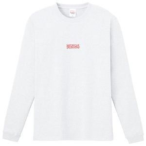 センターロゴ刺繍ロンTEE(白)