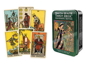 The Smith-Waite Centennial Tarot Deck in a Tin [缶入り]