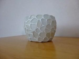 シーグラスのマルチホルダー★(陶器)ホワイト