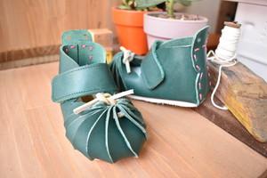 しゅうまい子ども靴 12センチ みどり色