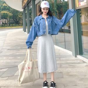 【アウター】夏新作韓国風合わせやすいシンプル折り襟ジャケット
