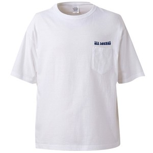 SIX LOUNGE 刺繍ポケットTシャツ(ホワイト)