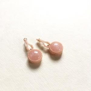 モルガナイト macrame earrings