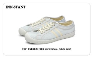 #301 SUEDE SHOES biera/natural (white sole) INN-STANT インスタント