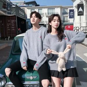 【トップス】韓国風気質よい合わせやすい秋冬カップルニットセーター24737157