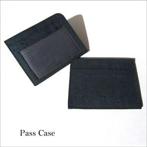 VEGAN ID CARD CASE BLUE / パスケース 青 コルク製