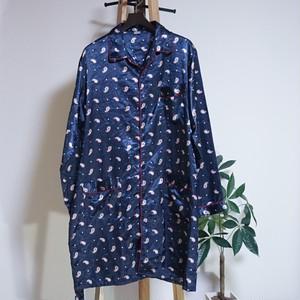 フランス ペイズリー柄パジャマシャツ 70's France [C848]