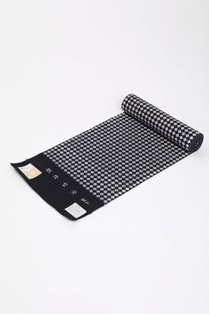 きもの / 越後型染 / 菱5本 / Black×White(With tailoring)