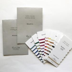 <GarnHusetIKinna(Sweden)> Yarn sample book スウェーデン糸 / 糸見本帳 2019 Bomull-Lin ・Minisnood