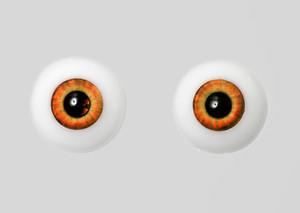 Silicone eye - 17mm Orange Red Eclipse
