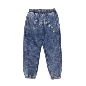 EXAMPLE x STARTER CHEMICAL WASH DENIM PANTS