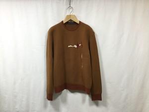 "semoh""graphic jacquard knit marron"""