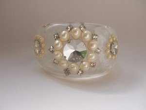bijou flower bangle[L]B