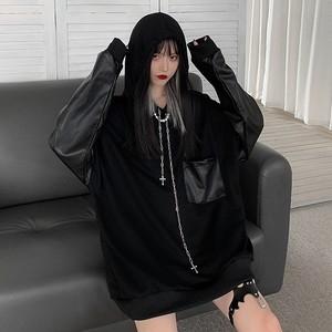 【トップス】切り替えし暗黒系ファッションストリートTシャツ35209619