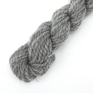 手紡ぎ毛糸オーダー ナチュラルコリデールグレー ゲージ用糸サンプル (n_corri3)