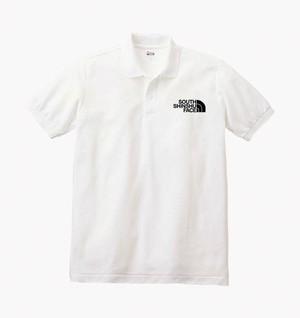 SOUTH SHINSHU FACE ポロシャツ ホワイト