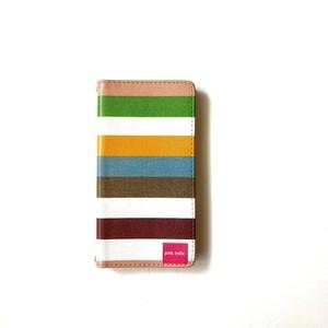 北欧デザイン 手帳型スマートフォンケース [ベルトなし] | iPhone6/7/8/SE(第二世代)兼用 | stripe1