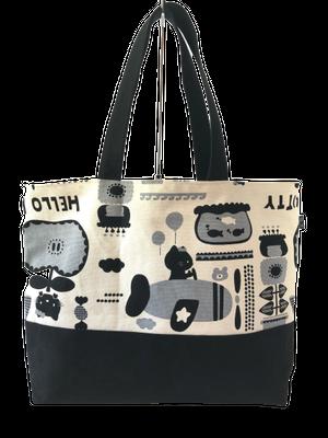 黒猫キティのトートバッグ