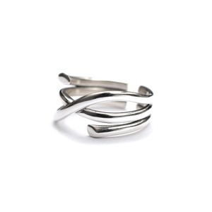 S925 TWIST LINE THICK RING