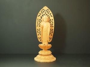 木彫り 本尊 ◆ 舟弥陀如来 3.5寸