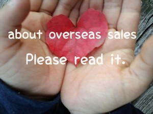 About overseas sales.. Please read it.