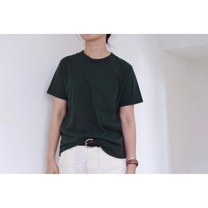 Simva104-0042S-Green W-Pocket  S/S Tシャツ
