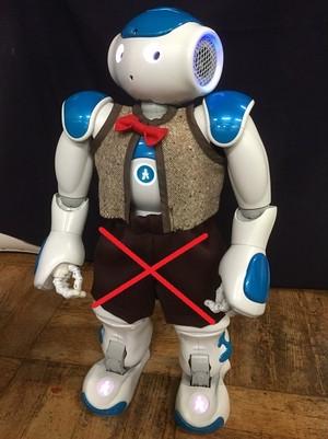 二足歩行ロボットのズボンについてトホホ話